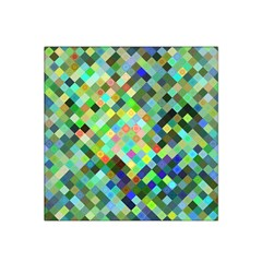 Pixel Pattern A Completely Seamless Background Design Satin Bandana Scarf