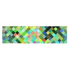 Pixel Pattern A Completely Seamless Background Design Satin Scarf (oblong)