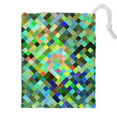 Pixel Pattern A Completely Seamless Background Design Drawstring Pouches (xxl) by Nexatart
