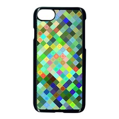 Pixel Pattern A Completely Seamless Background Design Apple Iphone 7 Seamless Case (black) by Nexatart