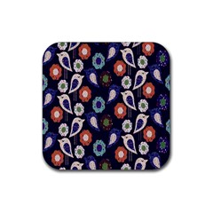 Cute Birds Seamless Pattern Rubber Square Coaster (4 Pack)  by Nexatart