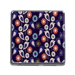 Cute Birds Seamless Pattern Memory Card Reader (square)