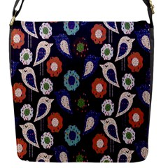 Cute Birds Seamless Pattern Flap Messenger Bag (s)