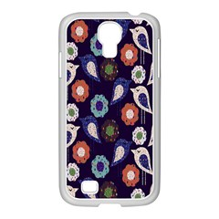 Cute Birds Seamless Pattern Samsung Galaxy S4 I9500/ I9505 Case (white) by Nexatart