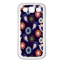 Cute Birds Seamless Pattern Samsung Galaxy S3 Back Case (white)