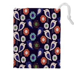 Cute Birds Seamless Pattern Drawstring Pouches (xxl) by Nexatart