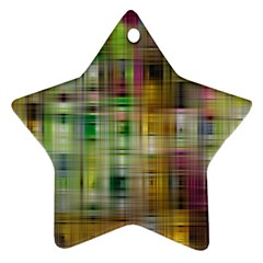 Woven Colorful Abstract Background Of A Tight Weave Pattern Ornament (star)