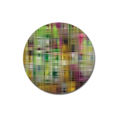 Woven Colorful Abstract Background Of A Tight Weave Pattern Magnet 3  (round) by Nexatart