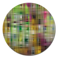 Woven Colorful Abstract Background Of A Tight Weave Pattern Magnet 5  (round)