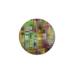Woven Colorful Abstract Background Of A Tight Weave Pattern Golf Ball Marker by Nexatart