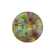 Woven Colorful Abstract Background Of A Tight Weave Pattern Hat Clip Ball Marker (4 Pack)