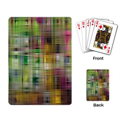 Woven Colorful Abstract Background Of A Tight Weave Pattern Playing Card