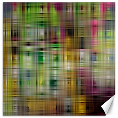 Woven Colorful Abstract Background Of A Tight Weave Pattern Canvas 16  X 16   by Nexatart