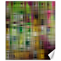 Woven Colorful Abstract Background Of A Tight Weave Pattern Canvas 20  X 24