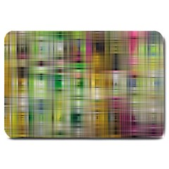 Woven Colorful Abstract Background Of A Tight Weave Pattern Large Doormat  by Nexatart