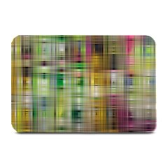 Woven Colorful Abstract Background Of A Tight Weave Pattern Plate Mats by Nexatart