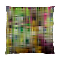 Woven Colorful Abstract Background Of A Tight Weave Pattern Standard Cushion Case (two Sides) by Nexatart