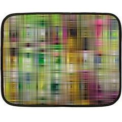 Woven Colorful Abstract Background Of A Tight Weave Pattern Double Sided Fleece Blanket (mini)
