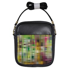 Woven Colorful Abstract Background Of A Tight Weave Pattern Girls Sling Bags