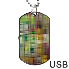 Woven Colorful Abstract Background Of A Tight Weave Pattern Dog Tag Usb Flash (one Side) by Nexatart