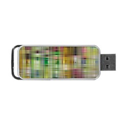 Woven Colorful Abstract Background Of A Tight Weave Pattern Portable Usb Flash (one Side)