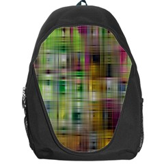 Woven Colorful Abstract Background Of A Tight Weave Pattern Backpack Bag by Nexatart