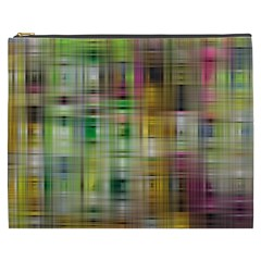 Woven Colorful Abstract Background Of A Tight Weave Pattern Cosmetic Bag (xxxl)  by Nexatart