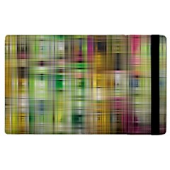 Woven Colorful Abstract Background Of A Tight Weave Pattern Apple Ipad 2 Flip Case