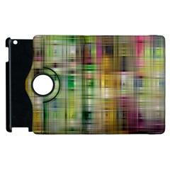 Woven Colorful Abstract Background Of A Tight Weave Pattern Apple Ipad 2 Flip 360 Case by Nexatart