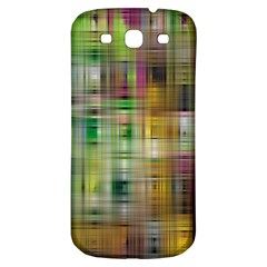 Woven Colorful Abstract Background Of A Tight Weave Pattern Samsung Galaxy S3 S Iii Classic Hardshell Back Case by Nexatart