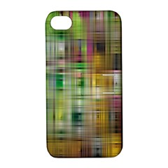 Woven Colorful Abstract Background Of A Tight Weave Pattern Apple Iphone 4/4s Hardshell Case With Stand