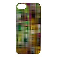 Woven Colorful Abstract Background Of A Tight Weave Pattern Apple Iphone 5s/ Se Hardshell Case by Nexatart