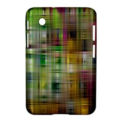 Woven Colorful Abstract Background Of A Tight Weave Pattern Samsung Galaxy Tab 2 (7 ) P3100 Hardshell Case