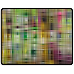 Woven Colorful Abstract Background Of A Tight Weave Pattern Double Sided Fleece Blanket (medium)