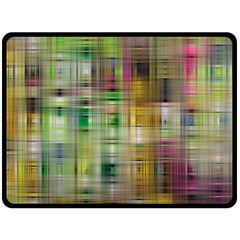Woven Colorful Abstract Background Of A Tight Weave Pattern Double Sided Fleece Blanket (large)  by Nexatart
