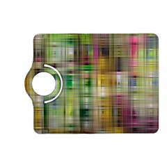 Woven Colorful Abstract Background Of A Tight Weave Pattern Kindle Fire Hd (2013) Flip 360 Case by Nexatart