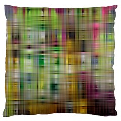 Woven Colorful Abstract Background Of A Tight Weave Pattern Large Flano Cushion Case (one Side) by Nexatart