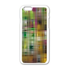 Woven Colorful Abstract Background Of A Tight Weave Pattern Apple Iphone 6/6s White Enamel Case