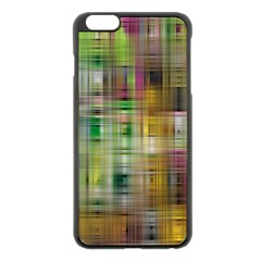 Woven Colorful Abstract Background Of A Tight Weave Pattern Apple Iphone 6 Plus/6s Plus Black Enamel Case