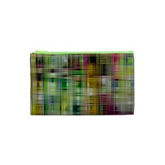Woven Colorful Abstract Background Of A Tight Weave Pattern Cosmetic Bag (xs) by Nexatart