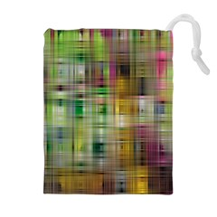 Woven Colorful Abstract Background Of A Tight Weave Pattern Drawstring Pouches (extra Large)