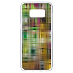 Woven Colorful Abstract Background Of A Tight Weave Pattern Samsung Galaxy S8 White Seamless Case by Nexatart
