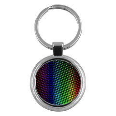 Digitally Created Halftone Dots Abstract Key Chains (round)  by Nexatart