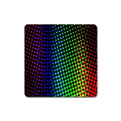 Digitally Created Halftone Dots Abstract Square Magnet by Nexatart