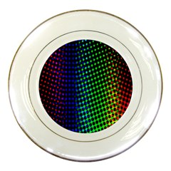 Digitally Created Halftone Dots Abstract Porcelain Plates by Nexatart