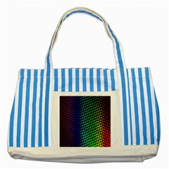 Digitally Created Halftone Dots Abstract Striped Blue Tote Bag