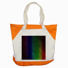 Digitally Created Halftone Dots Abstract Accent Tote Bag