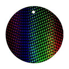 Digitally Created Halftone Dots Abstract Round Ornament (two Sides) by Nexatart