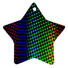 Digitally Created Halftone Dots Abstract Star Ornament (two Sides) by Nexatart