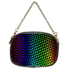 Digitally Created Halftone Dots Abstract Chain Purses (two Sides)